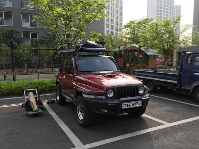뉴코란도 소프트탑 루프 캐리어 + 어닝 장착 + 영흥도 캠핑