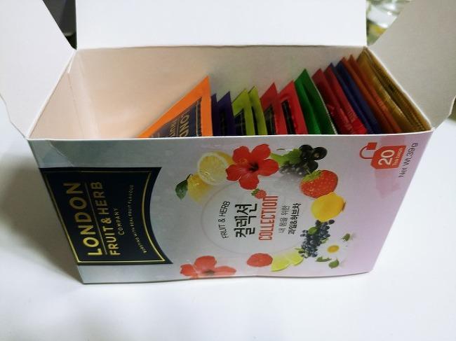 런던 푸룻 허브 컬렉션 티 먹은 후기(london fruit&hurb)