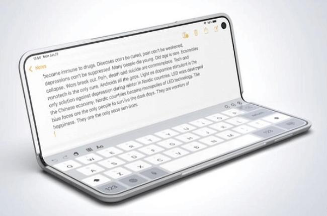 애플의 폴더블폰(아이폰F)은 접히는 게 다르다?