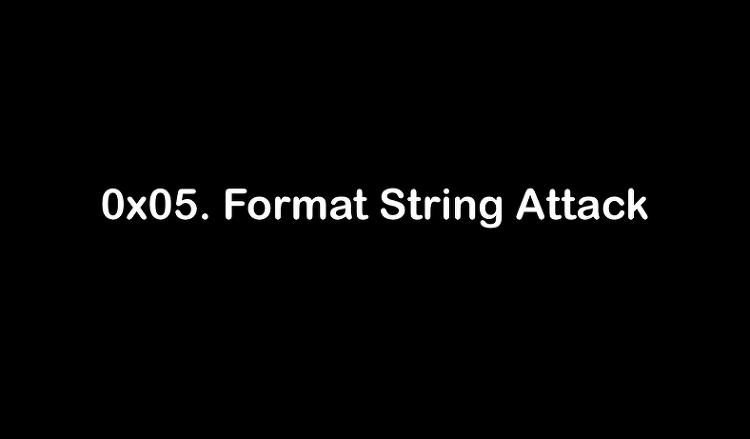5. Format String Attack (FSB)