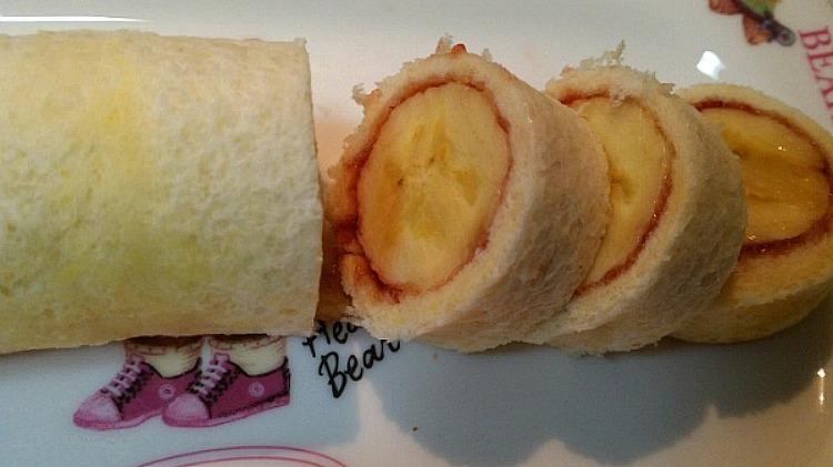 식빵과바나나로  간식 만들기
