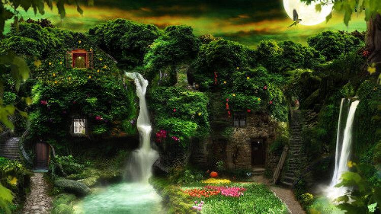 포토샵 cs6 합성작 숲 속의 집( Photoshop CS6 Phooto Manipulation House in the Forest)