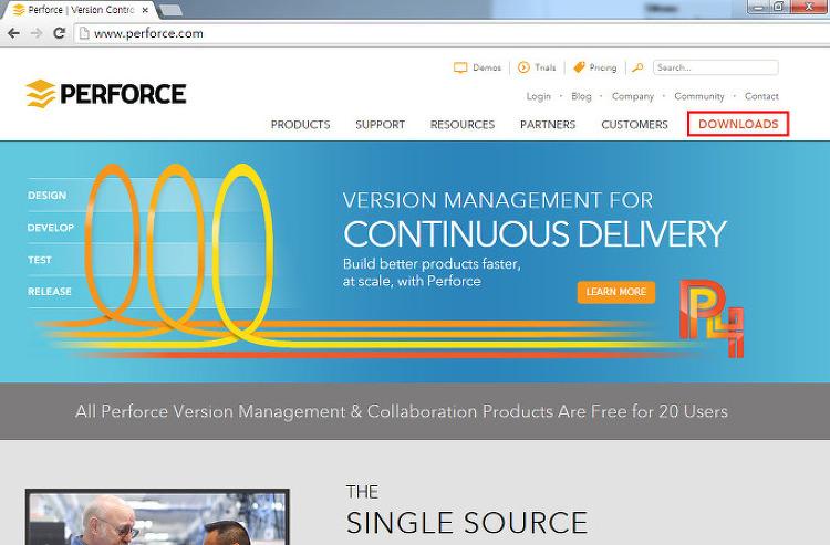 버전 관리 툴, Perforce 설치