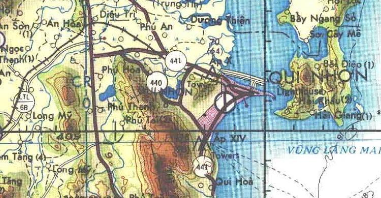 작전지도 퀴논지역