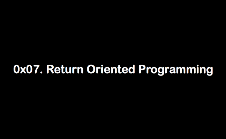 6. Return Oriented Programming (ROP)