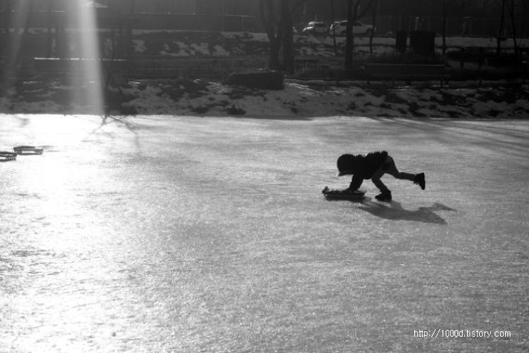 빙판 위에서의 놀이