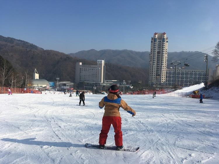 [강습후기] 스노보드 쌩초보 여성 보드입문 강..
