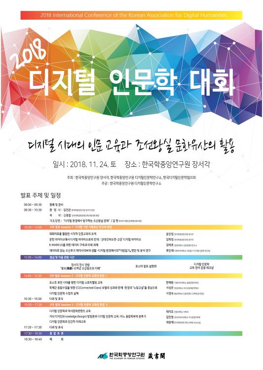[학술대회] 2018 디지털 인문학 대회 - 한국학중앙연구원