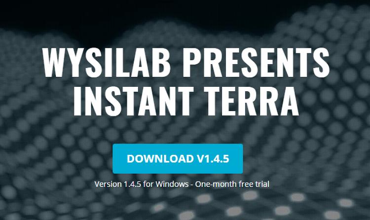 지형 모델링 소프트웨어인 Instant Terra 입니다.