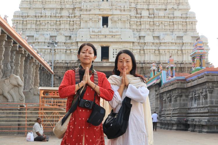 인도<티루반나말라이-3編>아슈람 식사, 힌두교 사원