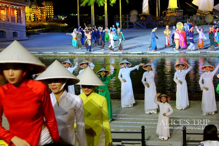 호이안 공연 - 아름다운 베트남, 아름다운 호이안을 볼 수 있는 공연, 호이안 메모리즈 (호이안 테마 임프레션 파크 Hoian Impression Theme Park)