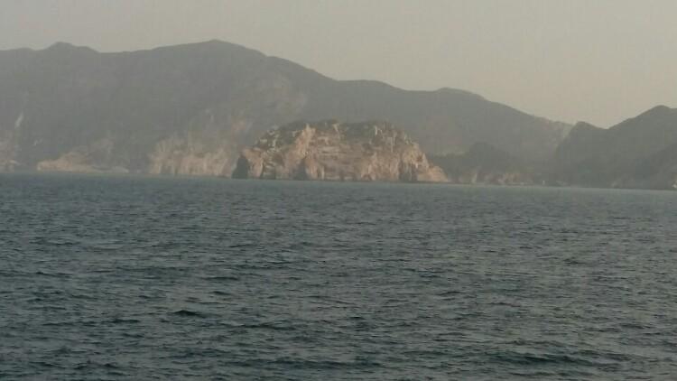 홍도 오전 풍경 사진