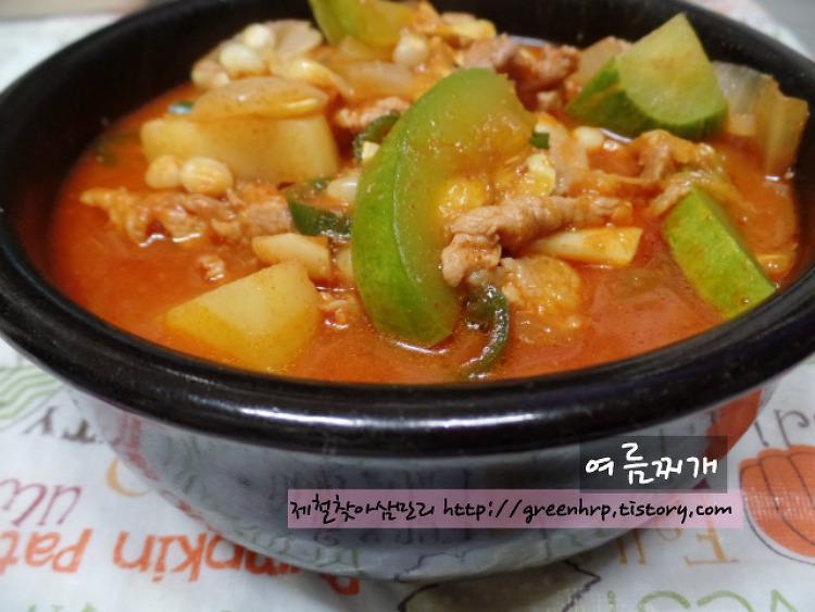 간단하고 맛있는 여름찬 응용편(46-1), 여름찌개~