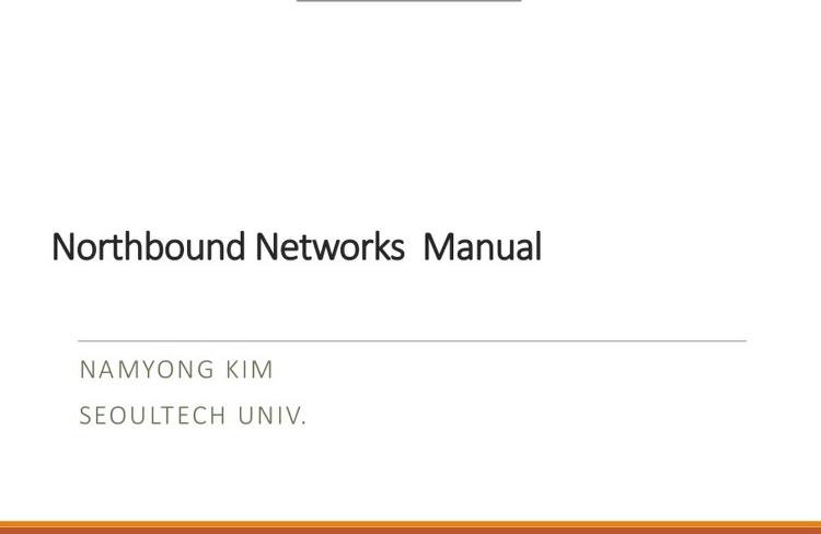 ZodiacWX를 이용한 SDN 연구와 Northbound Network 메뉴얼