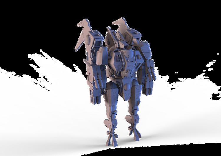 Warhammer 40k 3D Modeling - Tau XV86 Coldstar Battlesuit