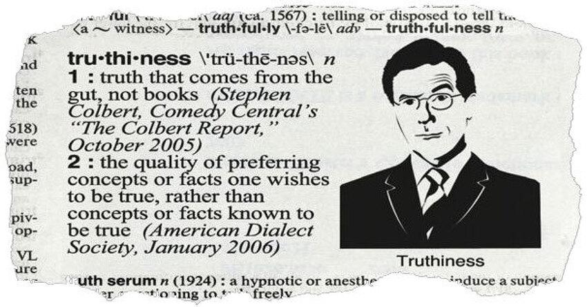 '트루시니스'(Truthiness)의 문제점