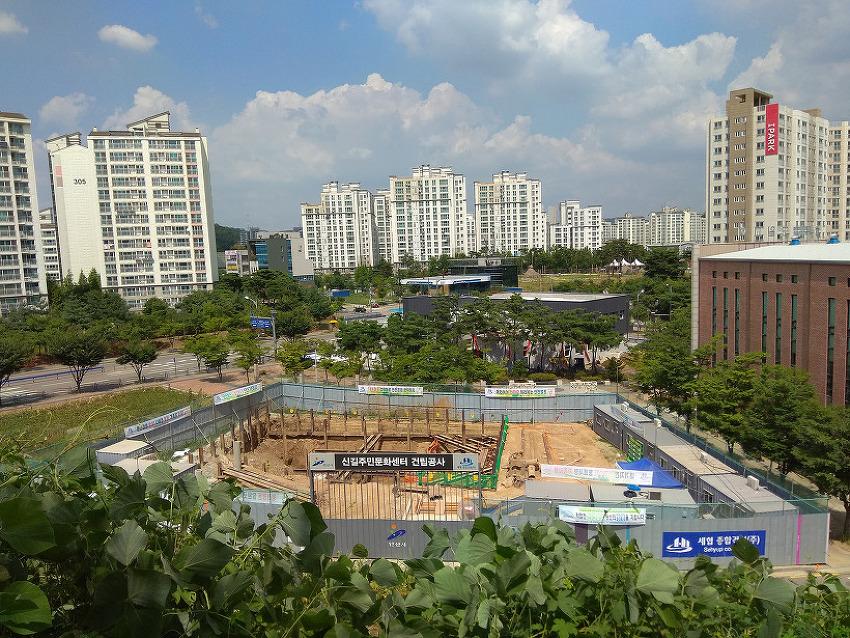 건설중 안산 신길119안전센터 및 신길주민문화센터(신길문화센터)