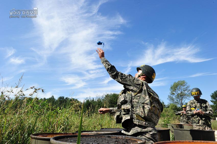 신병 1238기 3교육대 3주차 - 수류탄 투척훈련