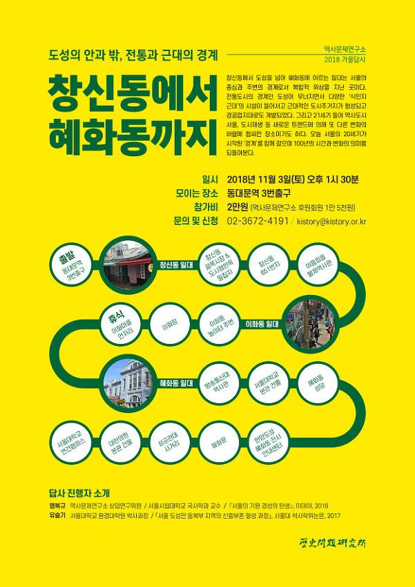 역사문제연구소 2018년 가을답사 안내
