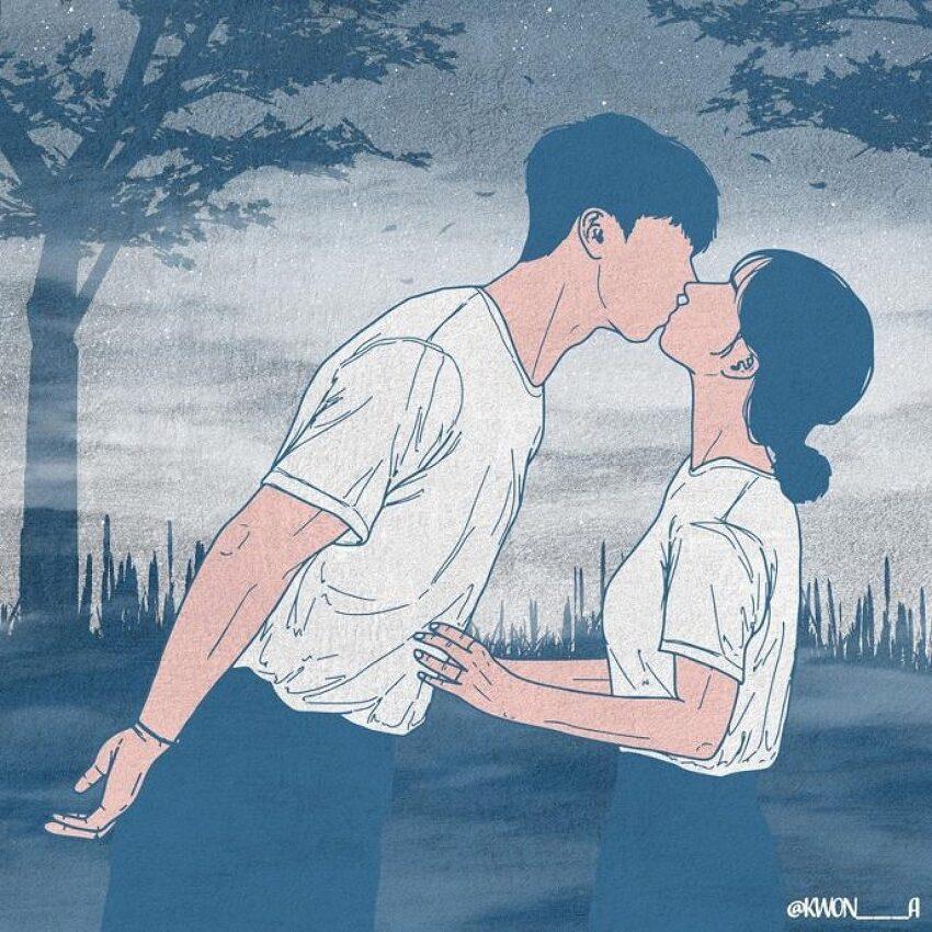 권원경 (Kwon A.)의 삽화-다툼 속에서도 함께 하는 사랑