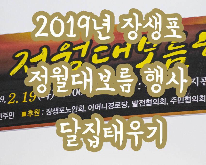 2019년 장생포 정월대보름 행사 달집태우기