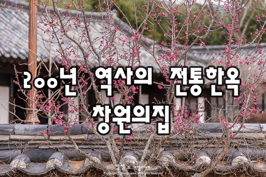 창원 창원의집 200년 역사의 전통한옥에도 봄 바람이 불어온다