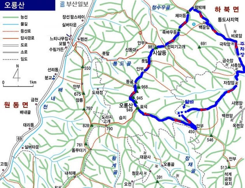 오룡산(951m)~시살등(981m)_20090426
