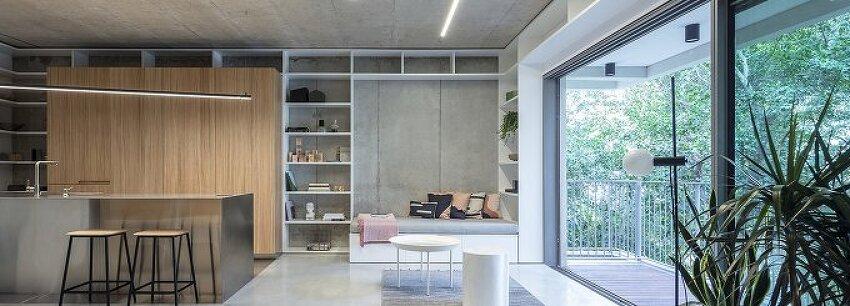 *이스라엘 3룸 아파트 개조-[toledano + architects organizes this tel aviv loft around a stainless steel and wood cube]