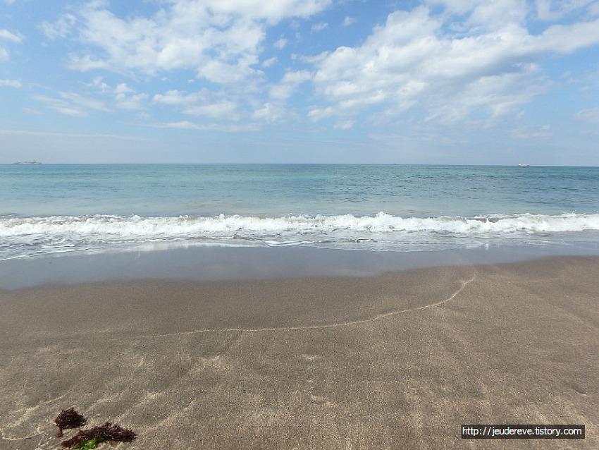 삼양해수욕장, 검은 모래해변(제주도 9월초)