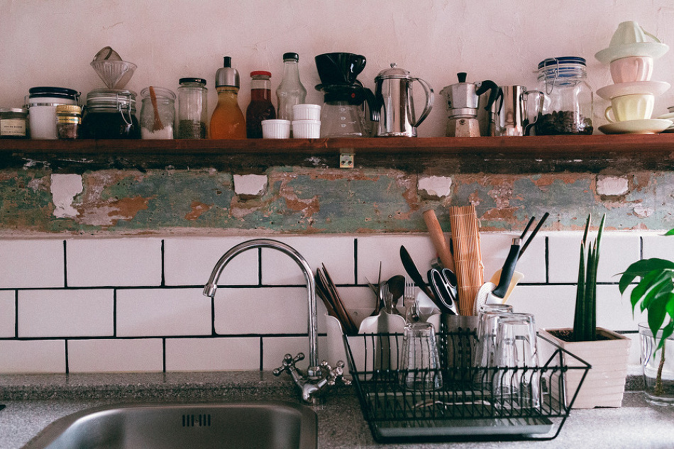 In a Small Kitchen