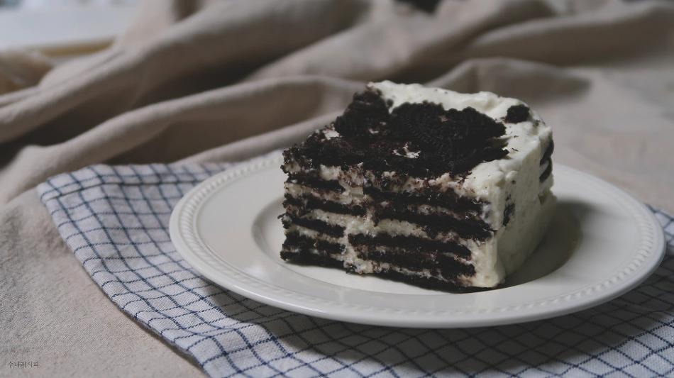 오븐 없이 만드는 케이크. 오레오 아이스 케이..