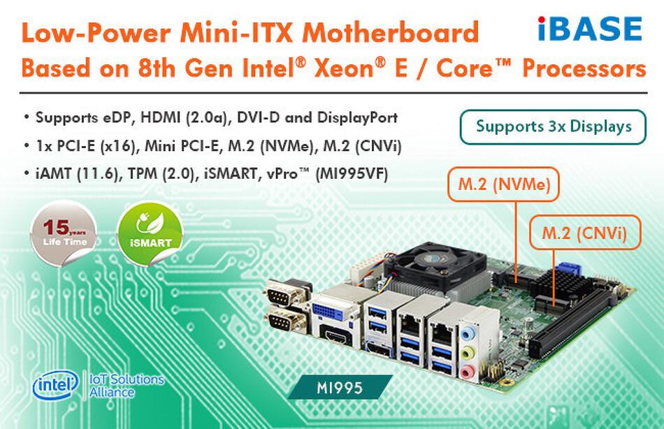 [번역] iBase, 8세대 인텔 제온 E/코어 프로세서를 위한 저전력 ITX 메인보드 출시